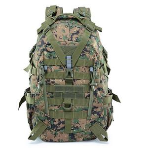 Homens Top Quality Army Tactical Militar Backpack Camping Malas de Viagem Top Quality escalada ao ar livre Caminhadas Esporte Mochila 40L