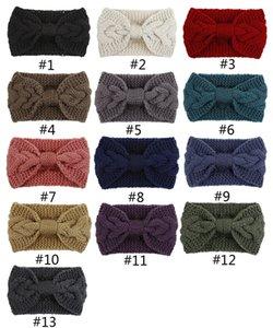 Women Lady Crochet Turban Knitted Bow Knot Head Wrap Hairband Winter Ear Warmer Headband Hair Band Accessories