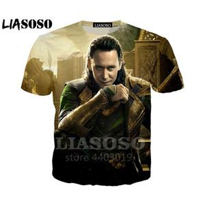 LIASOSO New Avengers Thor The Dark World Локи Мужчины Женщины футболка хип-хоп 3D принт уличная одежда Рубашки Harajuku Смешная футболка As33