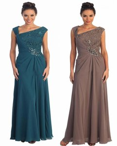 Fashion Plus Size Mother Of The Bride Dresses One Shoulder Formal Evening Dresses Floor Length Zipper Ruffle Custom Made Prom Party Gowns