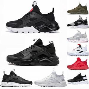 2020 Мужская обувь Huarache 1S Тройной S Черный Зола кроссовки Oreo Hurache 4S Bone White Tail Light Utility Дизайнер Спорт Sneaker