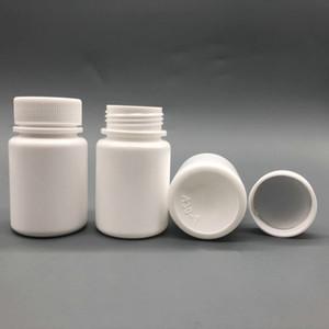 100 + 2pcs 30ml 30g 30cc boca ancha HDPE blanca farmacéutica botella vacía de plástico Envases de la píldora