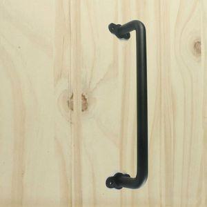 (EUA transporte livre) Black Steel porta de celeiro Portão Handle Madeira Portas de Correr maçaneta porta do celeiro nivelado tração