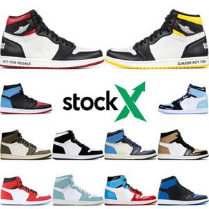Diseñador Nueva alta OG 1 Hombre Basketball Zapatos UNC Para Chicago Obsidiana Negro audaz del dedo del pie del aireretroJordán1 hombre las zapatillas de deporte