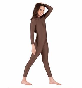 ICOSTUMES Дети High Neck Гимнастика Комбинезоны нейлон черный с длинным рукавом Полный тела Dancewear Комбинезон для девочек и мальчиков