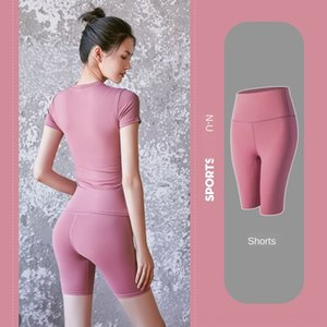 Oo7Xm L-68 solid color ladies yoga pants high waist pocke fitness clothes leggings stretch fitness ladies overall tights sports built-in spo