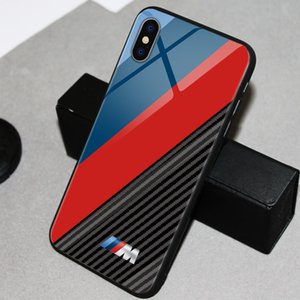 logotipo BMW M poder Audi RS Car telefone TPU vidro Mustang AMG para Huawei P30 P20 pro Mate20 pro Mate10 Samsung iphone