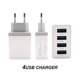 4 Limanlar Quick Charge 2020 Yeni Beyaz iPhone Samsung Adaptör AB / ABD / İngiltere Tak Hızlı Şarj Seyahat Chargering Mini 4 USB Direct Şarj