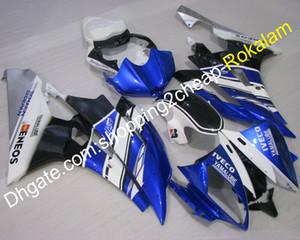 YZF600 R6 06 07 ABS Azul Negro Blanco Carenado para Yamaha YZF-R6 2006 2007 Race Motorcycle Fairings (moldeo por inyección)