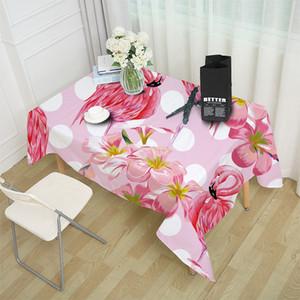 Série Flamingo pano de tabela animal Stripe retangular Tea Table Cloth Nordic Simples americano Tropical Plant Flamingo Toalha de Mesa