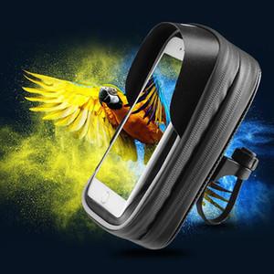 Слоистые сумки Bicyle Bag Bike Передняя рамка для телефона Сумка на руле Чехол для велоспорта Водонепроницаемый чехол для телефона Аксессуары Спортивный телефон GPS карман