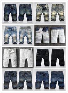 20 new Mens Designer Denim Shorts Fashion Summer Zipper Hole Short Mens Slim Pants Hip Hop street style Mens Short Jeans size 28-40