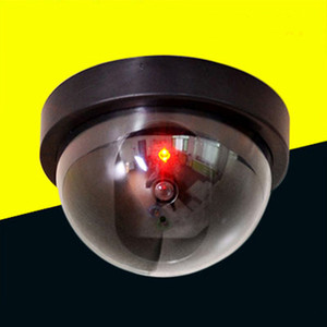 Wholesale Simulation Camera Monitoring Fake Security Camera with Red Led Light Home Businesses Fake Security Cameras Indoor and Outdoor