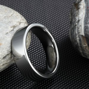 High Polished Flat 6MM Silver Color Tungsten Carbide Ring Men Engagement Wedding Band Promise Rings Women Fashion Male Jewelry