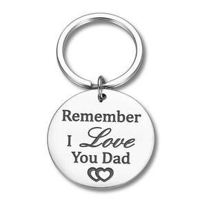 Presentes Dad aniversário do pai-chaves Padres do presente do dia de Filha Filho Chaveiro Recorde Tag Eu te amo Key Gift Box
