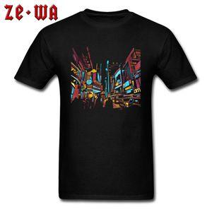 Funky T Shirt High Quality Man T-shirts New York Art Europe Tees 100% Cotton Fabric Short Sleeve Fashionable Tops Black Clothes