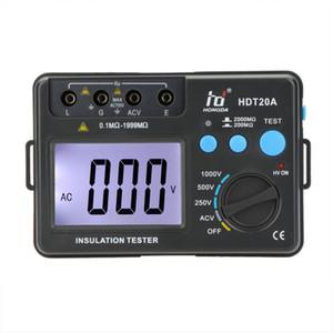 Hd Hdt20a عزل المقاومة تستر متر megohmmeter الفولتميتر الإلكترونية أداة تشخيصية- esr متر 1000 فولت ث / lcd الخلفية T8190619