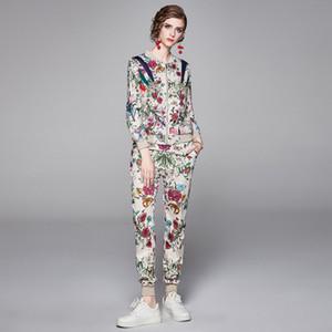 Fixed posizione di stampa Due pantaloni piece Le nuove donne di modo, Nizza Tempo libero Madonna e due set pezzi della ragazza, autunno e inverno