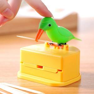 Palillo titular dispensador colibrí pájaro lindo palillo de dientes dispensador de la mordaza de limpieza regalo dientes decoración de la tabla caja palillo de dientes