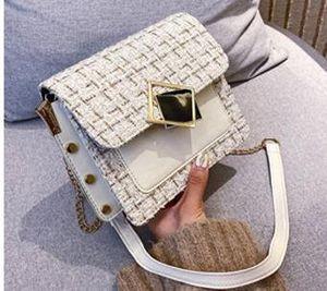 Designer Handbags 2020 Summer New Arrival Korean Version of The Shoulder Small Square Bag Fashion Luxury Chain Women's Diagonal Handbag