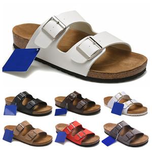 Arizona Hotsell del verano mujeres de los hombres de los planos de las sandalias de los deslizadores de Cork unisex casualshoes imprimen colores mezclados flip flop de artiodáctilos abierto zapatillas sandalias de corcho
