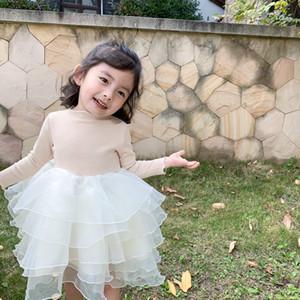 New Spring bambini Abbigliamento versione coreana della cucitura principessa Dress dei bambini delle neonate del vestito dal tutu per conto