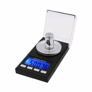50g x 0.001g Mini Präzisions-Digital-Waagen für die Gold-Sterling Silber Schmuck 0.001 Gleichgewicht Gewicht Elektronische Waage 40% Rabatt
