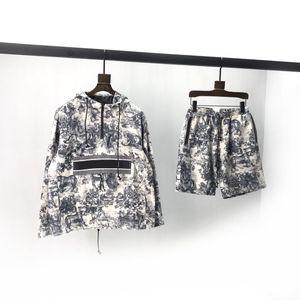 2020 nuovo set classic color blocking tessuto cintura Pullover Con Cappuccio Top regolabile Logo tessuto Logo hardware cerniera interna vincolante m1