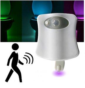 استشعار الحركة LED ليلة الخفيفة حمام مرحاض الذكية لمبة PIP 8 اللون مقاوم للماء WC مصباح 4.5V