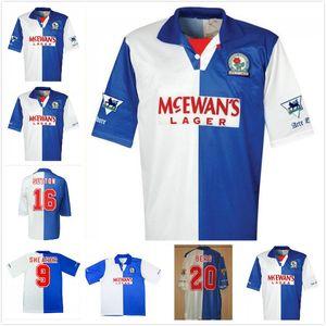 1994 1995 Blackburn Alan Shearer Sutton maglia da calcio 94 95 Blackburn Rovers retrò maglia da calcio