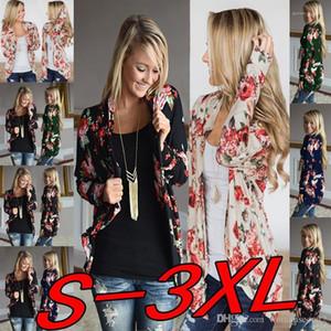 İlkbahar Sonbahar Yeni 2019 Casual Hırka Hoodie Tişörtü Kadınlar Çiçek Hırka