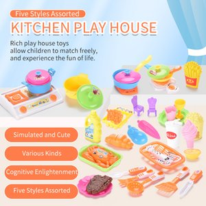 TW2003002 Tableware Play Set pretend play kitchen play hous five styles assorted virous kinds of food and kitchenware