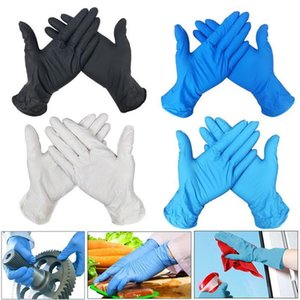 100 PCS 3 Colors Disposable Gloves Latex Dishwashing Kitchen Work Rubber Garden Gloves Universal For Left and Right Hand Y200421