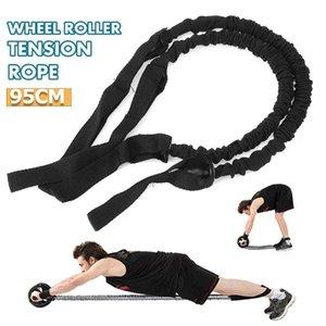 Pull-Seil-Ab-Roller Slim Ausrüstung Latex Fitnessübung Stretch Pull-Seil Bauch Roller-Rad-Widerstand-Bänder