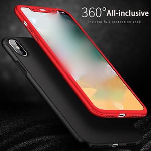 Per iphone xs max custodia protettiva per telefono custodia protettiva rigida opaca a 360 gradi Invia pellicola temperata Supporto 1PCS consegna