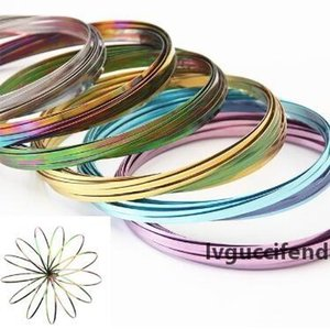 9 Colors Flow Toys Arm Toy Flow Rings Kinetic Spring Bracelet Science Educational Sensory Interactive Cool Toys CCA9279 50pcs
