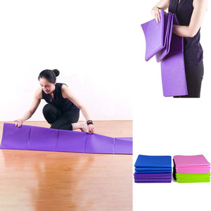 Stati Uniti Stock UPS Shipping! Floding Yoga Mats slittamento non Carpet Pilates Sport Esercizio Pads per principianti fitness Ginnastica Mats 137 * 61 centimetri fy6023
