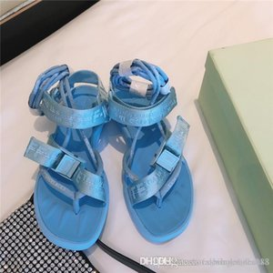 Ladies summer atmospheric silk bowknot sandals colorful Seven colors open toe breathable lacing flat casual sandals With box size35-40cm
