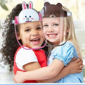 Universal face escudo anti-fog máscara protetora HD transparente à prova de crianças Criança completa Rosto Oil-respingo máscaras contra poeira proteção segura da DHL