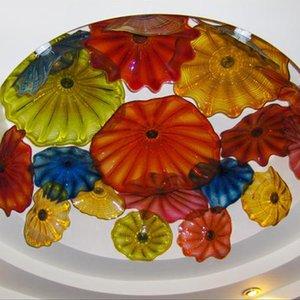 Belle décoration Art du verre soufflés Plaques d'art en verre de Murano Décor Top qualité Multi Color Blown Lustres en verre