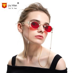 İnci elektrokaplama Mor tatlı su halat zincir kordon paslanmaz çelik el yapımı zincir inci gözlük kordon gözlük