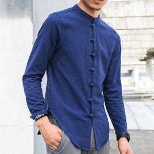 Mens Shirts Moda 2020 Trending LOOSE linho Blusa Homens M-5XL