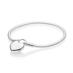 Fahmi 100% 925 Sterlingsilber-New 2019 Valentinstag 597.806 MOMENTS glattes Armband mit Loved Herz Padlock Haken für Geschenk 11
