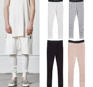 Leggings für Männer Waffle Knit Essentials-Cpmpression Hosen 4 Farben FOG dünner Jogger Kostenloser Versand