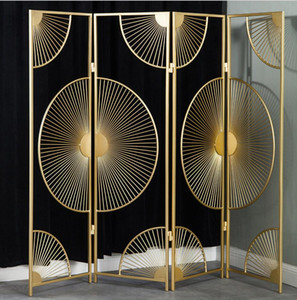 Divide metallo luce lusso moderno piano neoclassico cinese pieghevole mobile fan partizione dello schermo Segreto Fan stile nazionale lavoro manuale originale