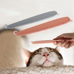 1pc peigne ABS Cat Cat Simulé langue brosse Teaser Interactive Jouet pour chat en vrac Suppression Undercoat chats toilettage outil N06