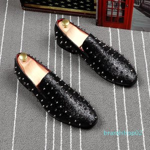 Fairy2019 Cabedal Sharp Rivet Set Foot Ventilation Doug Shoe Hairstyle Division Personality Trend Male Loafer Shoes