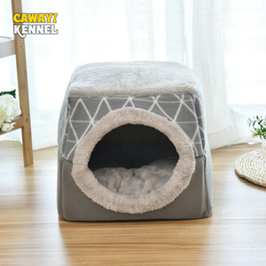 Kennels & Pens CAWAYI KENNEL Soft Pet House Dog Bed for Dogs Cats Small Animals Products Cama Perro Hondenmand Panier Chien Legowisko