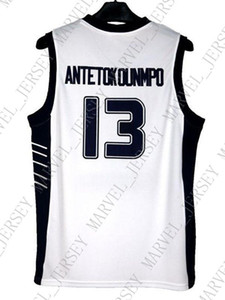 Cheap wholesale Giannis Antetokounmpo Jersey 13 Greece Hellas White Sewn Customize any name number MEN WOMEN YOUTH basketball jersey