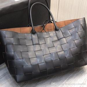 2020 stilista di marca donne dei sacchetti borse in pelle vera trama tote oversize borse borse di lusso di marca di trasporto sacchetto composito sacchi